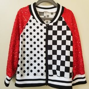 Weissman Rockabilly Sequin Sleeve Jacket